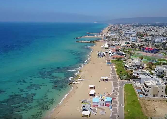 Нагария с высоты птичьего полета - Блог про Израиль